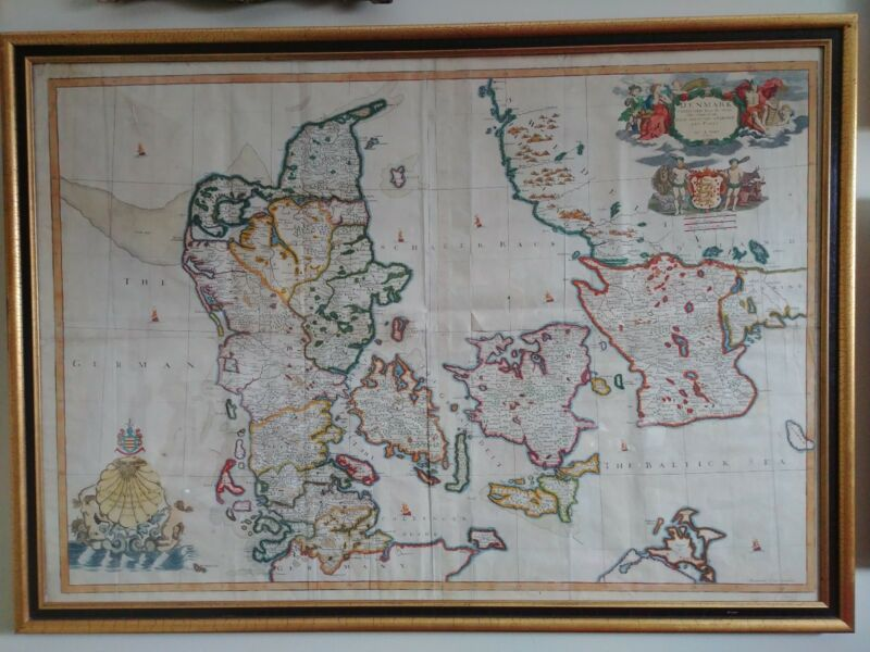 Antique John Senex Denmark Map 1710