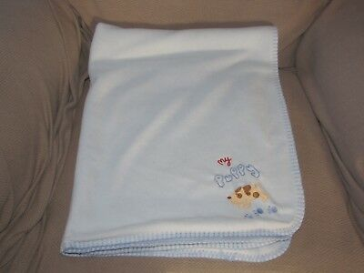 Koala Baby MY PUPPY DOG PAW PRINT Baby Blanket Security Blue Boy Lovey 30x40