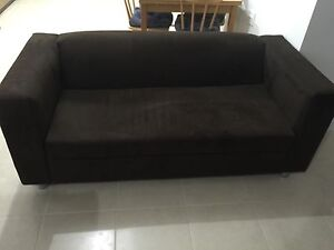 2.5 Seat Sofa -Chocolate Brown Seven Hills Blacktown Area Preview