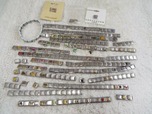 Italian Charm Link Bracelet Pieces Lot (B34)