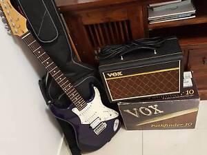 Aria 714 Electric Guitar and Amp Wynnum Brisbane South East Preview