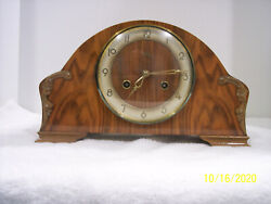 FRANZ HERMLE GERMAN 8 DAY 3 ROD CHIME MANTLE CLOCK