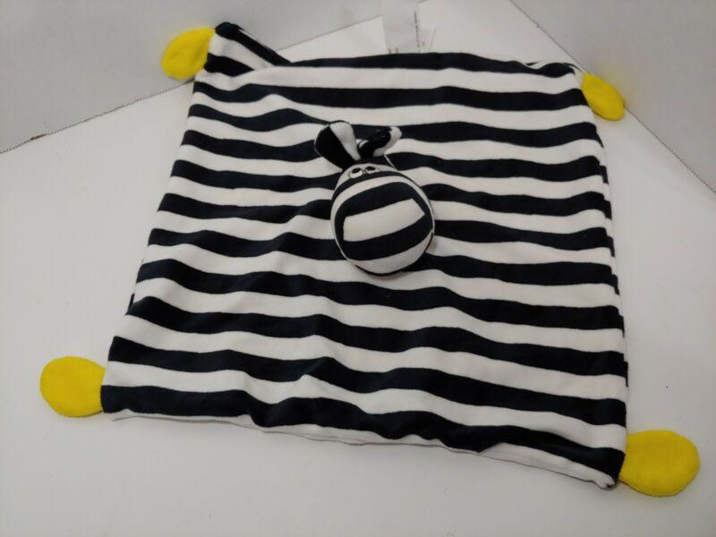 Ikea Plush Klappa Zebra Security Blanket Baby Lovey Black White Striped yellow