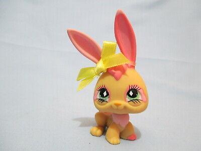 Littlest Pet Shop 506 Tan Pink Bunny Rabbit With Original Accessory Authentic