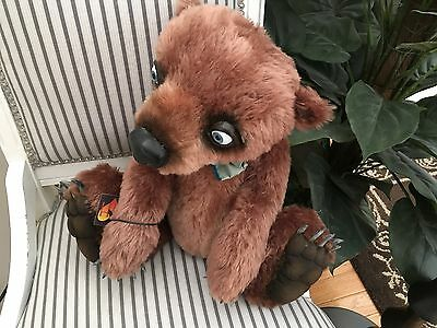 ARTIST BEAR MOHAIR ROBERT FORMON LARGE BEAR HEARTS OOAK MINT TAGS - $455.00