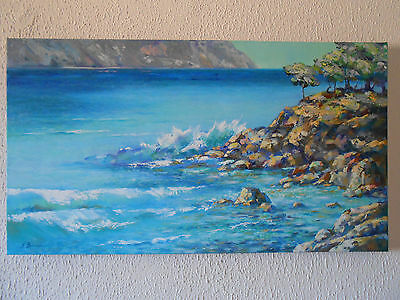 sea GIFT IDEAS OIL PAINTING modern wall art INTERIOR DESIGN ORIGINAL HOME STYLE