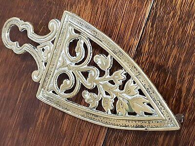 antique brass fire side iron TRIVET