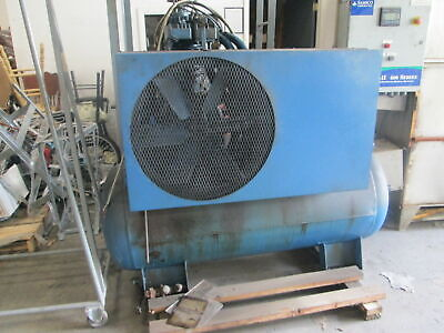 Kellog American 10 Hp Industrial Piston Type Air Compress W80 Gallon Tank
