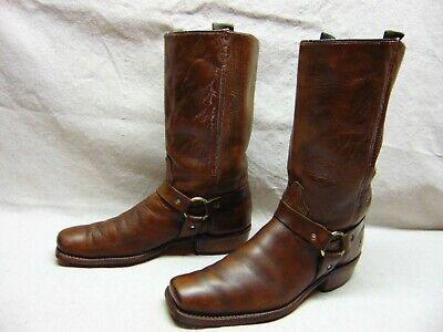 VTG Acme Men's 11 N Brown Leather Square Toe Harness Motorcycle Biker Work Boots