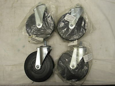 Lot Of 4 E.r. Wagner Stem Caster Swivel Soft Rubber Wheel 280 Lbs 6