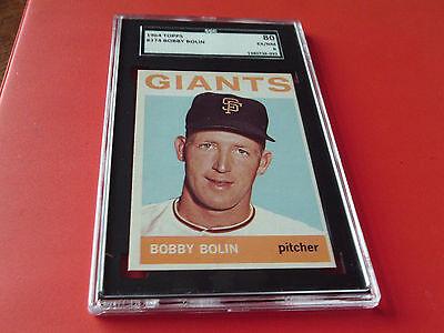 1964  TOPPS  # 374   BOBBY  BOLIN   SGC 80  !!