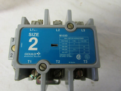 Gould M103D Size 2 Magnetic Contactor 3 Pole Coil 120V new