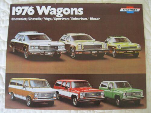1976 CHEVROLET WAGONS ORIGINAL DEALERSHIP BROCHURE