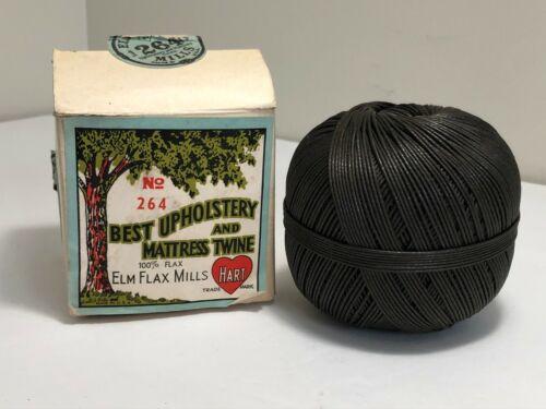 Vintage Elm Flax Mills Upholstery & Mattress Twine #264 with Box Hart Thread
