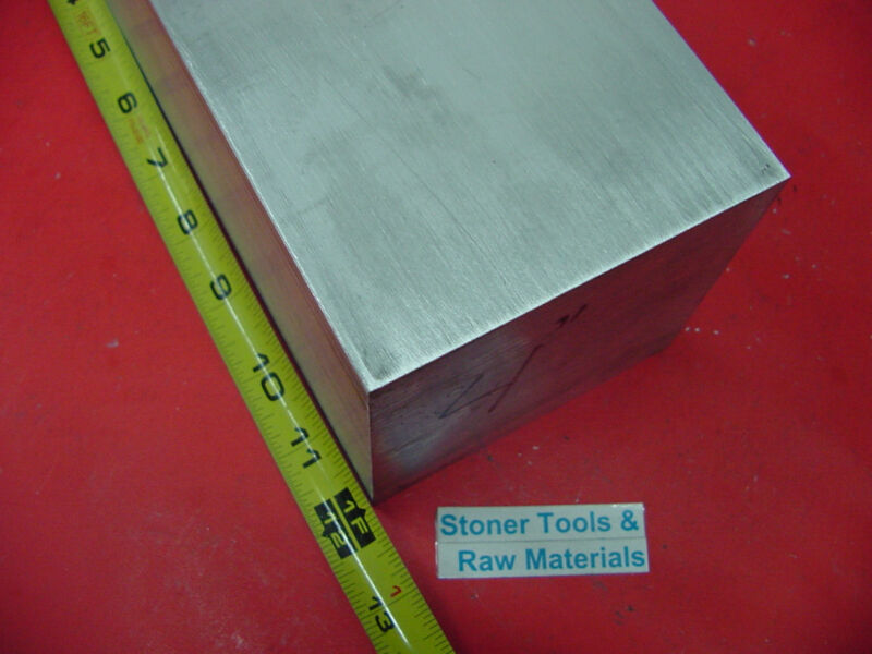 """2 pieces 4"""" X 4"""" ALUMINUM 6061 SQUARE SOLID BAR 12"""" long T6 Flat New Mill Stock"""