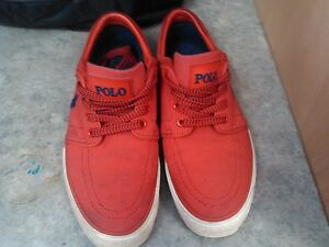 Size 9 Red Polo Mens Shoes