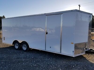 Enclosed Cargo Trailer 8.5x20 8.5 X 20 Ta In Stock Ramp V-nose Car Hauler 18 24