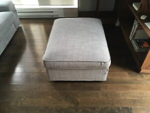 Ikea kivik footstool with storage