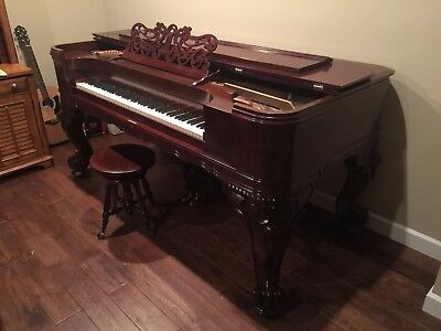1894 EMERSON SQUARE VICTORIAN PIANO FULLY RESTORED FOR SALE
