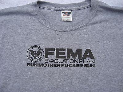 FEMA Evac Plan RUN MOTHER *#@* RUN, T Shirts, FAST FREE SHIP. MANY COLORS &Sizes (Color Run Shirts)
