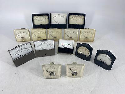 Lot Of 15 Vintage Assorted Panel Meter Meters Honeywell Ideal Simpson Ge...
