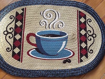 Vintage Coffee Kitchen Braided Rug Country Coffee Theme Kitchen Rug