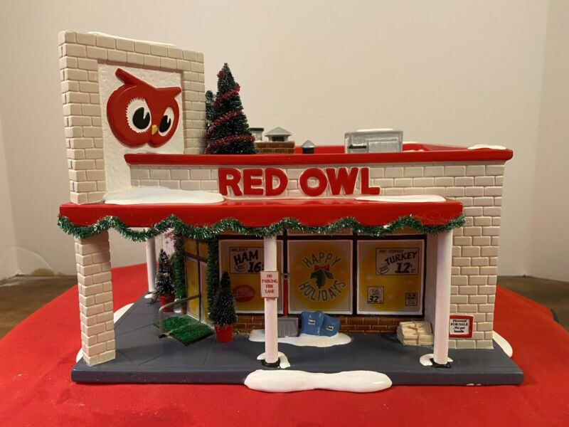Dept. 56 Snow Village 2002 Red Owl Grocery Store #56.55303