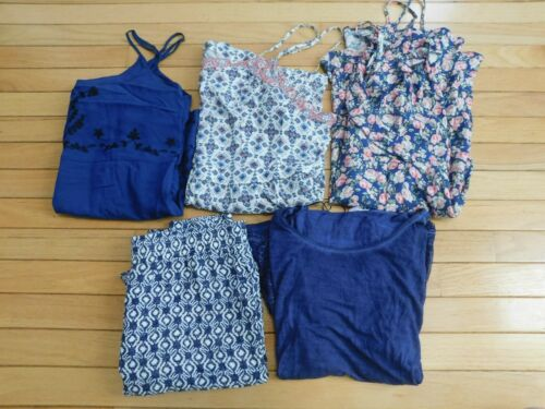 Lot of 5 Womens Clothing American Eagle Dress rompers Hollister Joggers sz LG