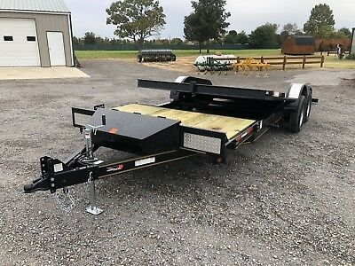 Trailer Sure Tilt Powder Coated Heavy Equipment Flatbed Utility