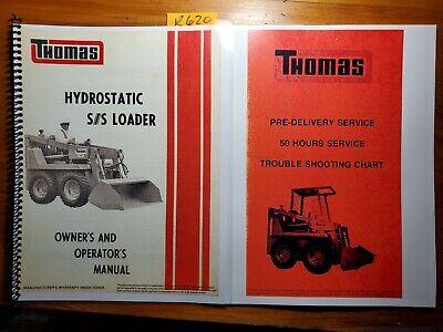 Thomas 1200 1700 2250 Gas Diesel Skid Steer Hydrostatic Operator Manual Trouble