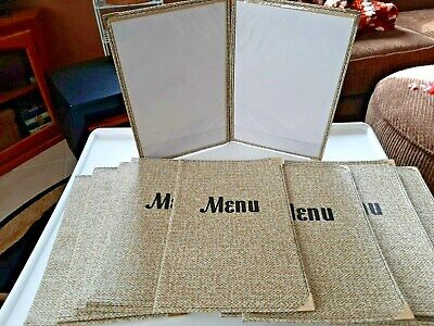 10 Pack Menu Brown Covers 6 X 9 Inches 2 View New