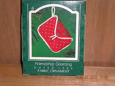 1986 HALLMARK Ornament NEW - FRIENDSHIP GREETINGS QX4273 MIB Never Displayed