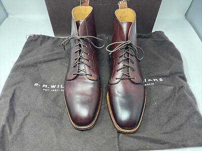 RM Williams Kardinya Saddle Stitch Lace Up Boots Chianti US 9