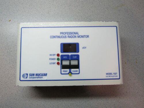 Sun Nuclear 1027 Professional Continuous Radon Monitor Used - Minnesota Seller!