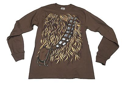Star Wars Chewbacca Chewwy Costume Authentic Licensed Men's Long Sleeve - Authentic Chewbacca Costume