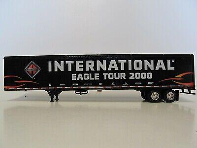 DCP 1/64 SCALE UTILITY DRY VAN TRAILER, BLACK, INTERNATIONAL EAGLE TOUR 2000