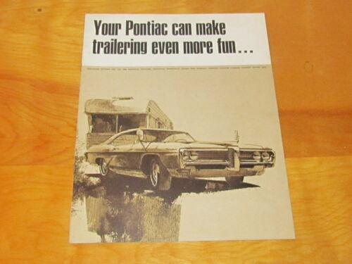 1968 Pontiac Models Dealership Brochure Catalog Manual Original