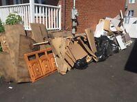 ramassage de débris et déchets de construction