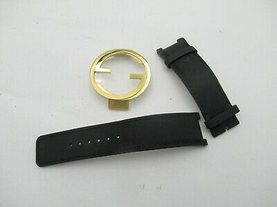 b20a2684e50 Assorted Gucci Watch Parts ~ Mens Black Leather Band