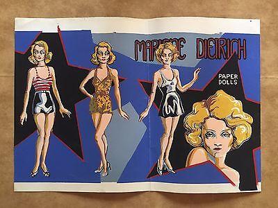 Marlene Dietrich Vintage Paper Dolls 1940's  The Blue Angel Blonde Venus