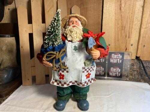 Possible Dreams Clothtique Gardening Santa Figurine