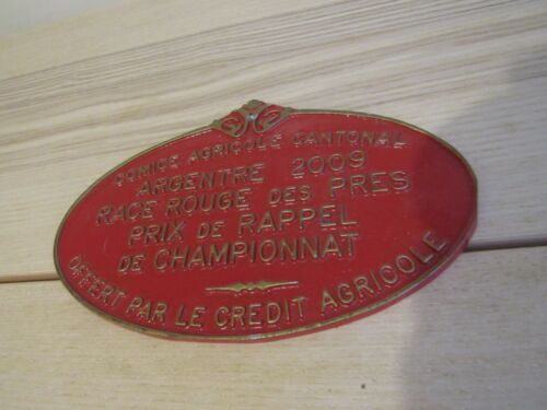 """French Large France Painted Metal Sign Red and Metal 8"""" Agricole"""