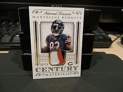 National Treasures Materials Jersey Bears Patriots Martellus Bennett 09 25  2015