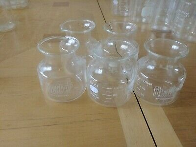 Corning Pyrex 150ml Fleaker Beakers. Used.