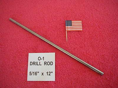 516 X 12 Drill Rod 0-1 Tool Steel Precision Ground .3125 Machinist