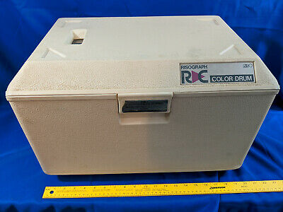 Riso Risograph Drum Case Black Handle Rc 61408362 Vtg C Ra Color Used Untested