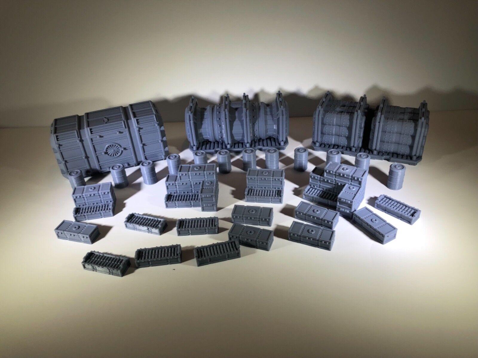 как выглядит Scatter Terrain Cargo Drop Great for Warhammer 40K Infinity Necromunda Kill Team фото