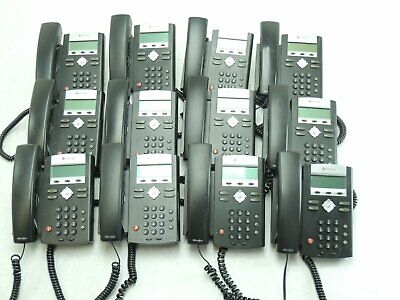 Lot Of 19 - Polycom Ip 321 Two Line Sip Phone W Stands Cords Handsets Tested