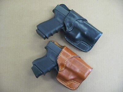 Cross Draw Pistol Holster - Azula Leather Cross Draw Carry Handgun Holster CCW For..Select Gun & Color - C