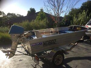 3.7m Seajay tinny with Honda 15hp outboard Eltham Nillumbik Area Preview